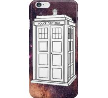 White TARDIS Galaxy  iPhone Case/Skin