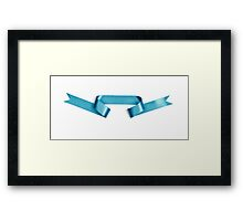 Pastel Blue streamer ribbon  Framed Print