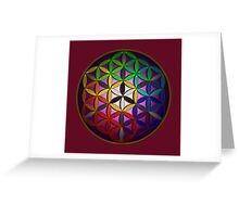flower of life (spectral) Greeting Card