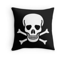 Old Skull music Throw Pillow