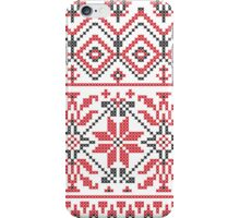 Red and Black Knitting Pattern 3 iPhone Case/Skin