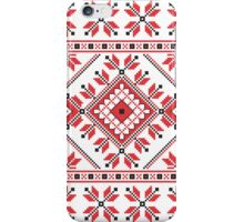 Red and Black Knitting Pattern 2 iPhone Case/Skin