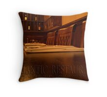 ROMANTIC RESTAURANT Throw Pillow