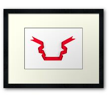Red streamer ribbon  Framed Print
