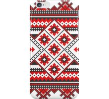 Red and Black Knitting Pattern iPhone Case/Skin
