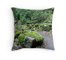 Winding Rainforest Path Throw Pillow