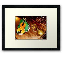 VIOLIN and TRUMPET Framed Print