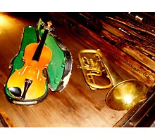 VIOLIN and TRUMPET Photographic Print