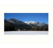 Cascade Mountain Landscape Four Art Print