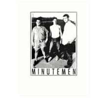 Minutemen - Light Shirts/Totes/Stickers/Pillows! Art Print