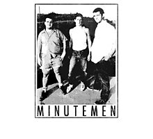 Minutemen - Light Shirts/Totes/Stickers/Pillows! Photographic Print