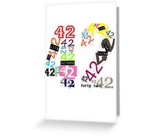 Variations on The Answer Greeting Card