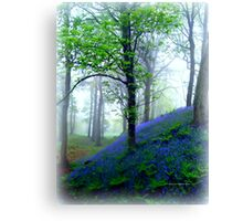 Misty Blue Hillfort Canvas Print