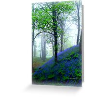 Misty Blue Hillfort Greeting Card