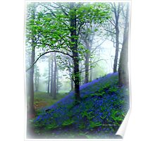 Misty Blue Hillfort Poster