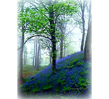 Misty Blue Hillfort Photographic Print