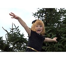 Paigey Girl with a bow Photographic Print