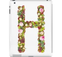 Capital Letter H Part of a set of letters, Numbers and symbols iPad Case/Skin