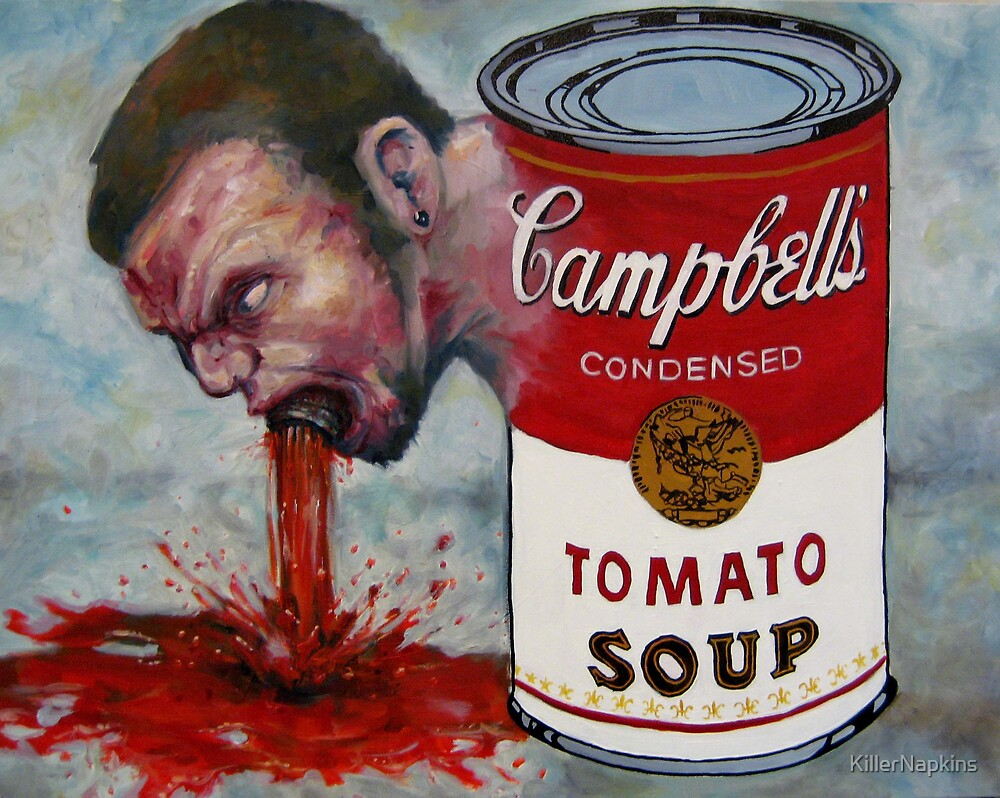 Self Portrait Dipped in Tomato by KillerNapkins