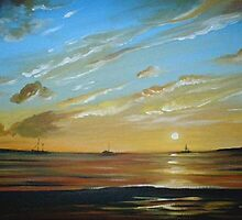 Boats on the Horizon by Cherie Roe Dirksen