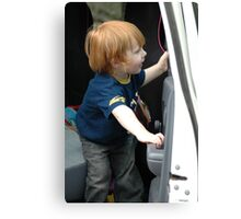 Clever toddler Canvas Print