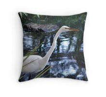 water bird pfa Throw Pillow