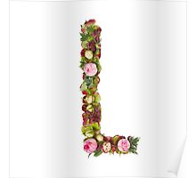 Capital Letter L Part of a set of letters, Numbers and symbols Poster