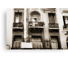 Balconies Lomo Argentina Canvas Print
