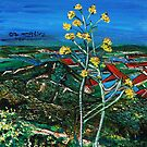 The Yellows In the Landscapes of the Gilbo'aa , Israel  by Nira Dabush