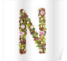 Capital Letter N Part of a set of letters, Numbers and symbols Poster