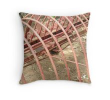 Farm Rake Throw Pillow