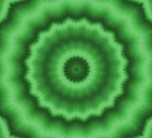 Coniferous Green Magic Mandala by Vandarque