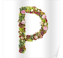 Capital Letter P Part of a set of letters, Numbers and symbols Poster