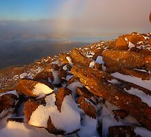 Mt Wellington over Hobart  by Michael Walters