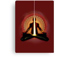 receiving light (meditator) Canvas Print