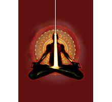 receiving light (meditator) Photographic Print