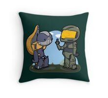 Poor missunderstood grunt... Throw Pillow
