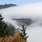 Incoming Clouds Engulf a Highway Bridge by journeysincolor