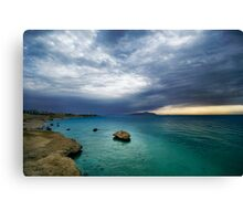 sunrise and turquoise water Canvas Print
