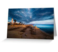 sunset and turquoise ocean Greeting Card