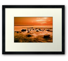 ocean and sunset Framed Print
