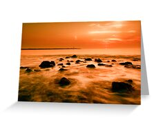 ocean and sunset Greeting Card