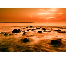 ocean and sunset Photographic Print