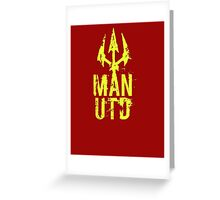 Man Utd  Greeting Card
