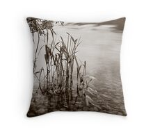 Ullswater Reeds in mono Throw Pillow
