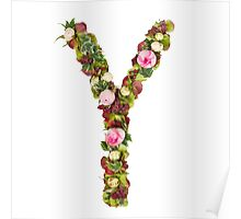 Capital Letter Y Part of a set of letters, Numbers and symbols  Poster
