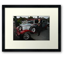 Wedding Ganster Framed Print