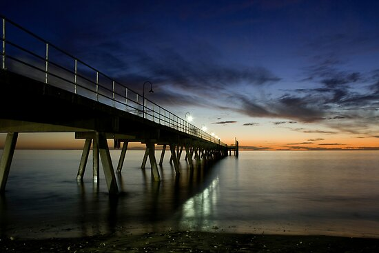 Sunset Jetty by Oliver  Andrews