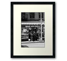 Deli 45th Framed Print