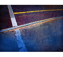 Tram Track in Blue Photographic Print